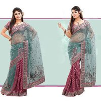 Ethenic Stylish Party Wear Sarees
