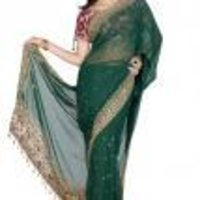 Stylish Net Pallu Saree