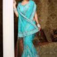 Designer Blue Saree