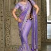 Stylish Purple Saree