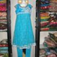 Blue Net Salwar Suits