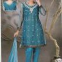 Net Churidar Salwar Suit