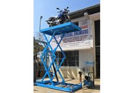 Two Wheeler Scissor Lift Platform