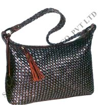 Cow Metallic Leather Bags