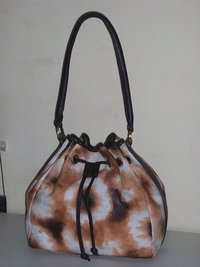 Finished Leather Handpainted Bag