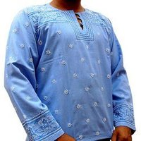 Light Embroidery Pattern Short Kurta