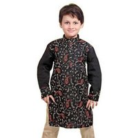 Boy'S Black Kurta