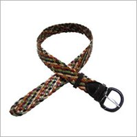 Tericota Leather Braided Belt