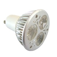 High Power LED GU10 Dimmable 3x1W