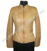Supple Two-tone Lamb Leather Jacket