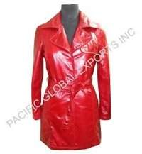 Lamb Leather Long Coat