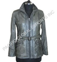 Soft Leather Long Coat
