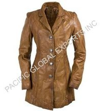 Lamb Leather Long Coats