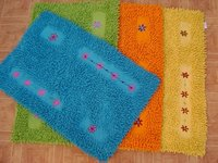 Embroidery Shaggy Bath Mat