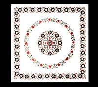 Decorative White Marble Inlays