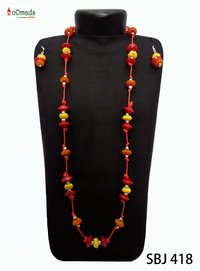 Red And Yellow Beads Necklace