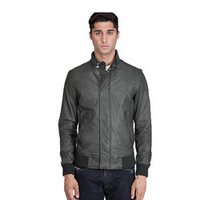 Leather Slim Fit Short Motorcycle Jacket