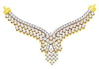 Mangalsutra Pendant Tanmaniya 1.10Ct Diamonds
