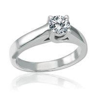 0.50 Ct Solitaire Ladies Diamond Ring