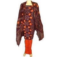 Bollywood Handmade Tie Dye Salwar Suti With Duppatta