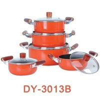 10pcs Aluminum Cookware Set With Glass Lid