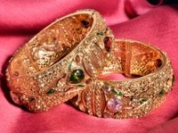 Designer Polki Bangles