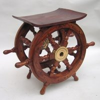 Designer Ship Wheel Table