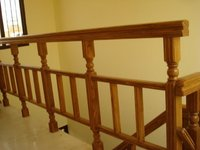 White Beach Wooden Stair Railings
