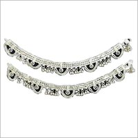Fashionable Silver Anklets