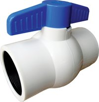 Pp Plastic Solid Ball Valve (White)