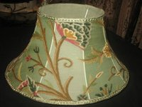 Crewel Lamp Shade Tree Of Life Pistachio Silk Organza