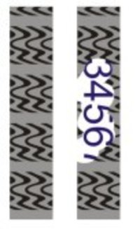 Zebra Pattern Labels