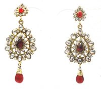 Light Weight Antique Kundan Earring
