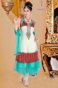 Double Frill Anarkali Suit