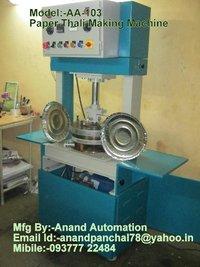 Hydraulic Digital Paper Thali Making Machinery