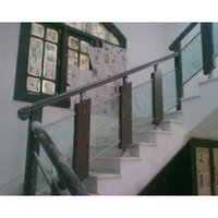Steel Railing With Wood