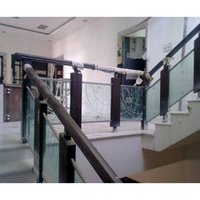 Stainless Steel And Wood Railing
