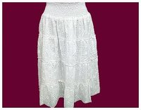 Chifli Work Smocked Waistband Skirt