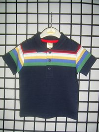 Boys Cut And Sew Polo T-shirt