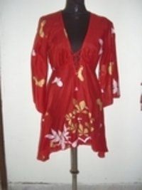 Ladies Flower Printed Designer Tunic