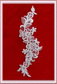 Embroidered Lace Flower