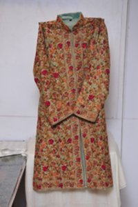 Raw Silk Long Jacket