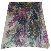 Flower Screen Printed Scarves