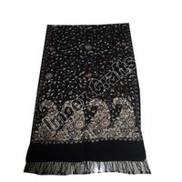 Black Zari Embroidered Shawl