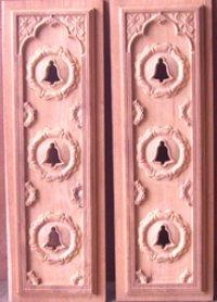 Wooden Bell Holes Doors