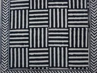Black & White Printed Bed Sheet