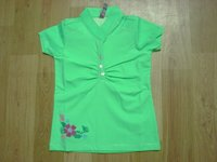 Girls Green Top