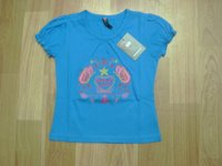 Girls Blue Printed Tops