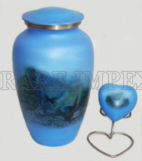 Blue Butterflies Cremation Urns