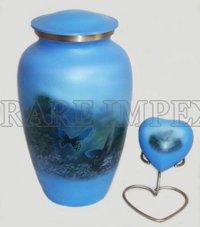 Blue Butterflies Cremation Urns